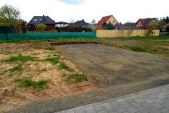 Die Baustraße in voller Breite