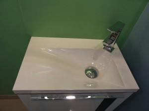 Im Gäste-WC reicht ein kleiner Waschtisch