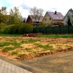 Abmarkung und Baustraße auf unserem Grundstück