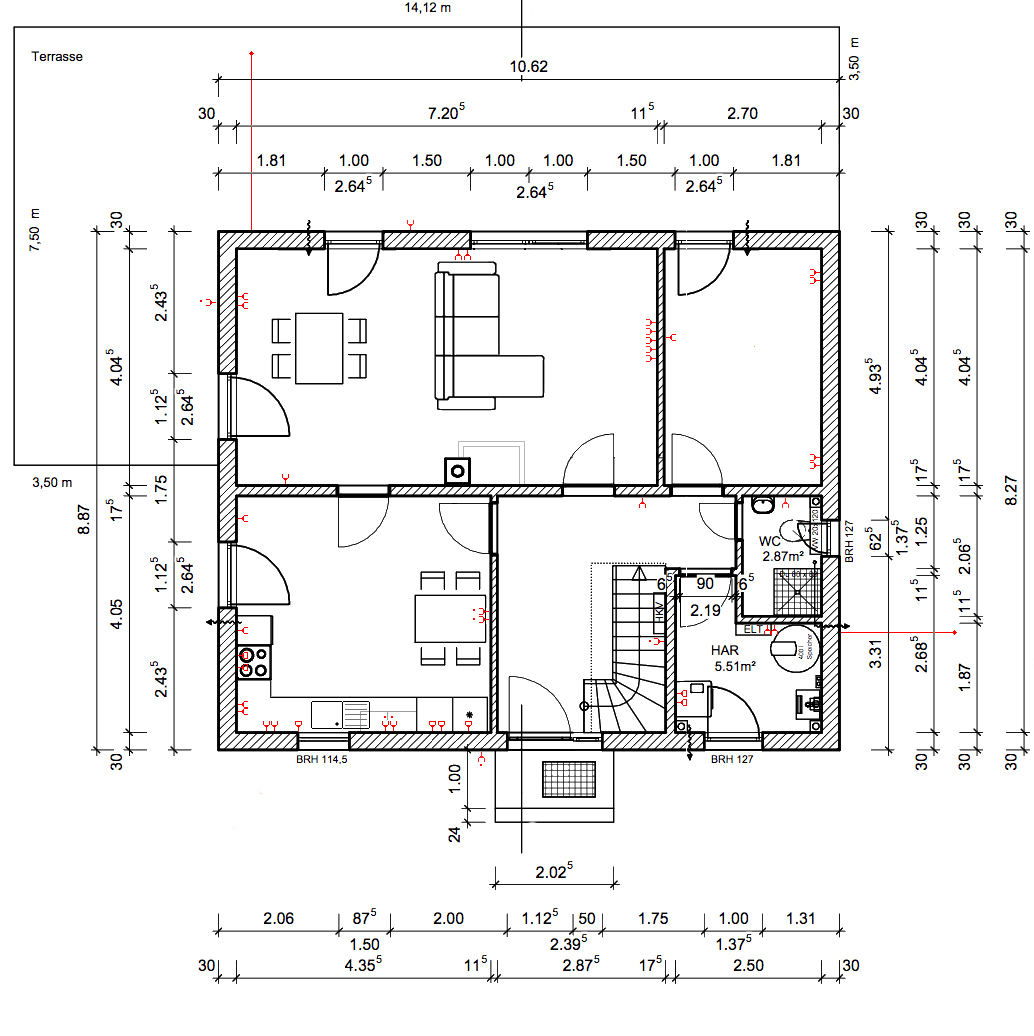 grundriss mit steckdosen im untergeschoss baublog werder bautagebuch und erfahrungsbericht. Black Bedroom Furniture Sets. Home Design Ideas