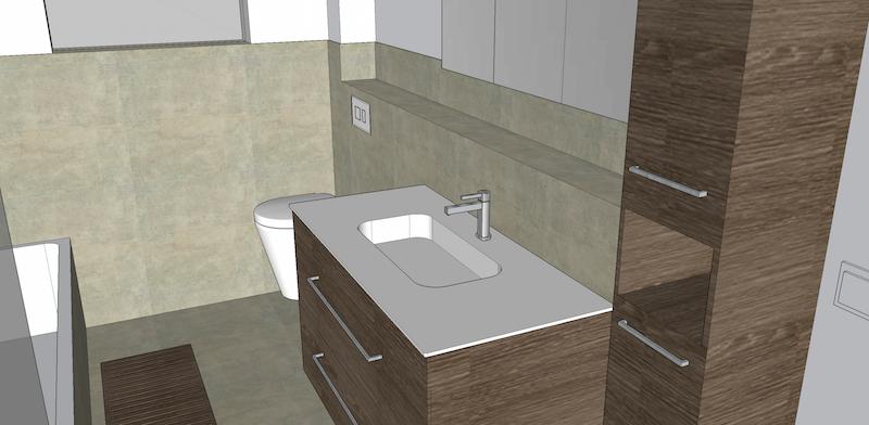 3d badezimmer mit sketchup - baublog werder - bautagebuch und, Badezimmer ideen
