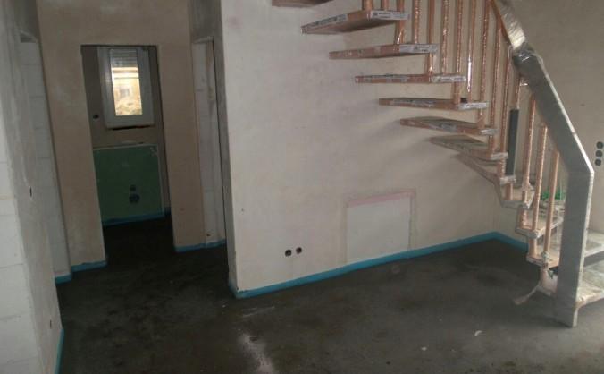 Zementestrich beim Hausbau