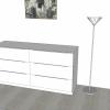 Schlafzimmer mit Kommode in 3D