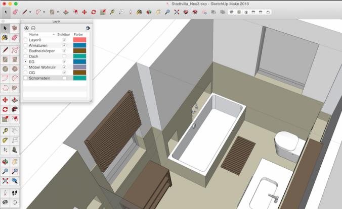 SketchUp 3D Hausplanung