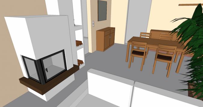 sketchup wohnzimmer  baublog werder bautagebuch und