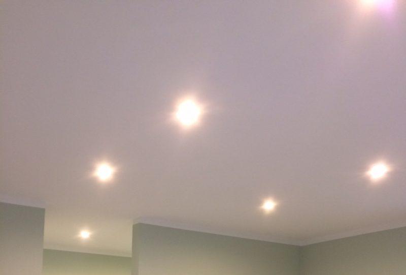 LED Deckenlampen angeschlossen