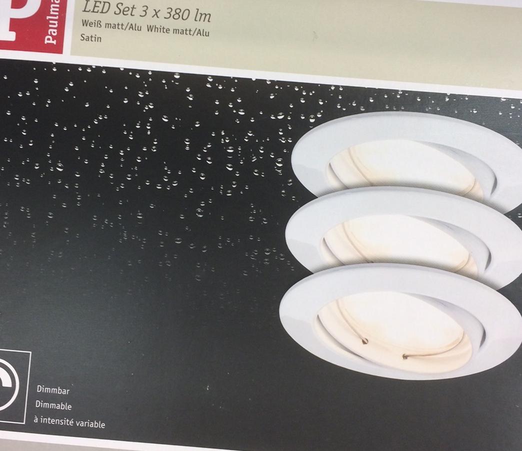 paulmann led spots baublog werder bautagebuch und erfahrungsbericht. Black Bedroom Furniture Sets. Home Design Ideas
