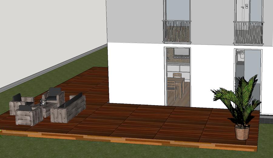 Planung der Terrasse mit Sketchup