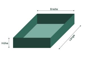 Skizze Bodenaushub für Mutterboden