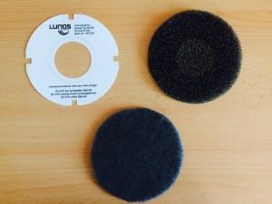 LUNOS Pollenfilter, Geruchsfilter und Volumenstromblende