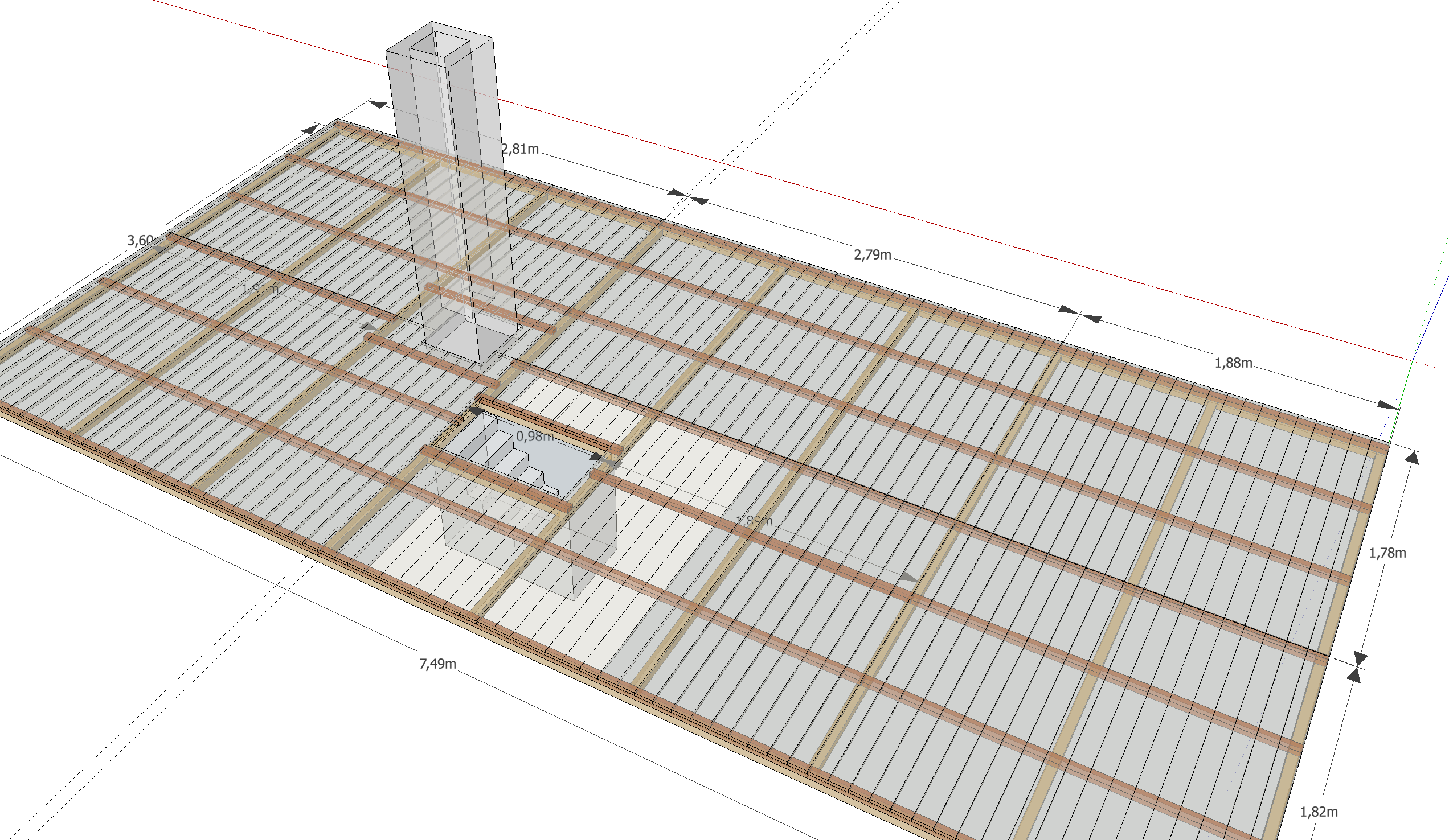 dachboden planen mit sketchup baublog werder bautagebuch und erfahrungsbericht. Black Bedroom Furniture Sets. Home Design Ideas