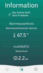 Vaillant multiMATIC App - Informationen anzeigen