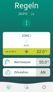 Vaillant multiMATIC App - Regeln anzeigen