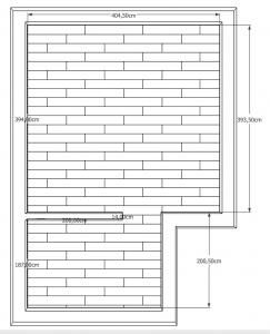 Skizze für Fußboden