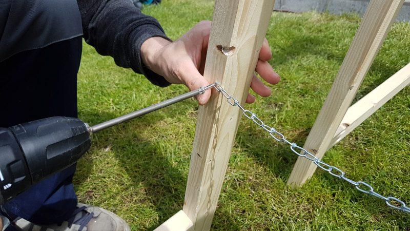 Abschlussarbeiten am Holzbock