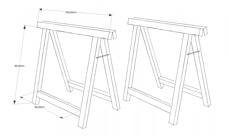 Holzbock Skizze