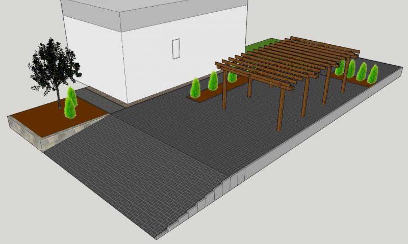 Einfahrt planen mit Sketchup 3D